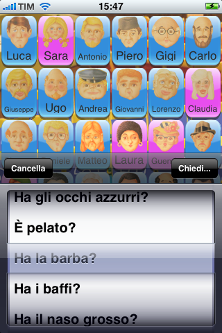 Screenshot Chi è? Indovina!